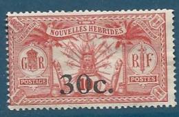 Nouvelles Hébrides   - Yvert N° 74  (*)  -cw0903 - Nuovi