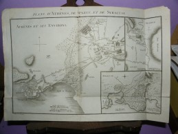 PLANS D ATHENES , SPARTE ET SYRACUSE  :  ( CARTE EXTRAITE DE L ATLAS DE TABLEAUX ET CARTES PAR EDME MENTELLE 1804 ) - Geographical Maps