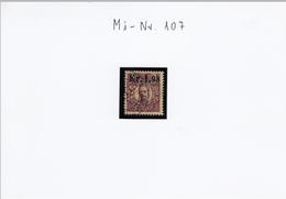P Michel Nr. 107 König Gustav V,  Mit Aufdruck Des Neuen Wertes - Gebraucht