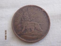 Ethiopie 1 Besa Type I (no Inscription) Coin Cassé - Broken Die - Ethiopie