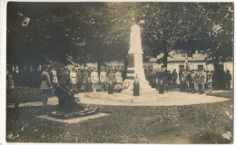 Carte Photo  Strasbourg Ceremonie Monument Aux Morts Promotion Alsace Lorraine 1914  1920 - Straatsburg