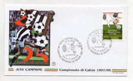 Italia- 1998 - Busta FDC - Campionato Di Calcio 1997/98 - Juventus Campione - Con Doppio Annullo Filatelico - (FDC1819) - F.D.C.