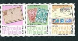 2013 GIORNATA FILATELIA  STRISCIA 3 BOLLI  NUOVO ** MNH - 6. 1946-.. Repubblica