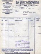 VP6491 - 2 Factures & 1 Lettre De Change - Fournitures En Gros Pour L'Electricité ¨LA VOLTAMPERE¨ à LIMOGES - Electricity & Gas