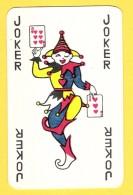 Joker Dansant Avec 6 Et 3 De Coeur, écriture Noire - Verso Rouge - Speelkaarten