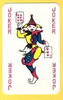 Joker Dansant Avec 6 Et 3 De Coeur, écriture Rouge - Verso Bleu - Speelkaarten