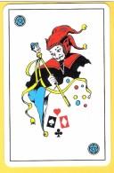 Joker Diable Avec Sceptre, Liseré Noir, étoiles Bleues - Verso Club Med, Club Méditerranée - Speelkaarten
