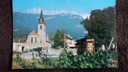CPSM LE TOUVET ISERE L EGLISE ET LA GENDARMERIE AU FOND L ALPETTE - France