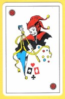 Joker Diable Avec Sceptre, Liseré Noir, étoiles Rouges - Verso Mutuelle De La Mayenne - Speelkaarten
