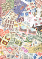 WORLDWIDE USED STAMPS LOT 100 DIFFERENT BLOCKS OF 4 - Sellos