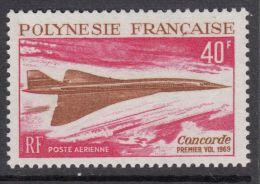 Polynesie, 1969, Concorde, Airplane, MNH, Michel 92, French Polynesia - French Polynesia