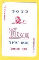 Joker Lion 3033 Shanghai - Verso Rouge - Speelkaarten
