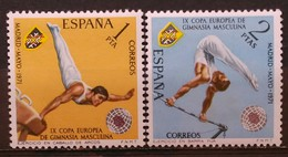ESPAÑA 1971. Campeonato Europeo De Gimnasia Masculina. NUEVO - MNH ** - 1931-Aujourd'hui: II. République - ....Juan Carlos I