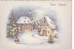 NATALE....BUON NATALE...MERRY CHRISTMAS...CARTOLINA..NOEL..FELIZ NAVIDAD..FROHE WEIHNACHTEN..STELLA.6052 - Altri
