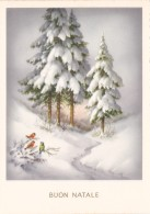 NATALE..BUON NATALE..MERRY CHRISTMAS.CARTOLINA.NOEL..FELIZ NAVIDAD..FROHE WEIHNACHTEN.REGALI.GIFT..NEVE.SNOW.BIRDS..6103 - Altri