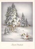 NATALE..BUON NATALE..MERRY CHRISTMAS.CARTOLINA.NOEL..FELIZ NAVIDAD..FROHE WEIHNACHTEN.REGALI.GIFT..NEVE.SNOW.BIRDS..6105 - Altri