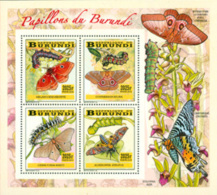 BURUNDI 2014 -  Chenilles Et Papillons - I - Bloc Collectif-2025 BIF - Butterflies