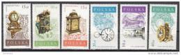 2849 Polonia 1988 Lotto Antichi Orologi Clocks Nuovo MNH Full Set Polska - Orologeria