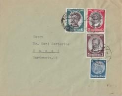 DR Brief Mif Minr.483,540,541,542 Köln Gel. In Schweiz - Briefe U. Dokumente
