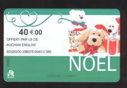GIFT CARD - Carte Cadeau Auchan - NOEL - 40 € - Cartes Cadeaux
