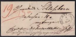 T&T Brief Höchst Am Main 8.10.1850 - Thurn Und Taxis