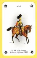 Joker Hussard N°53 - Petit Format 8 X 5 Cm ! - Verso Jubilee Cigarettes - Speelkaarten
