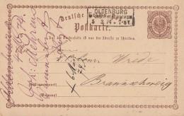 DR Ganzsache R3 Oldenburg Grossherzogthum 5.3.74 - Briefe U. Dokumente