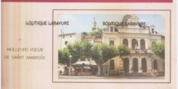 30 - SAINT AMBROIX--Plaquette Meilleurs Voeux Avec Photo De L'Hotel De Ville-- - Saint-Ambroix