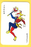Joker Dansant Avec Sceptre - Collants Bleus - Verso Berger Allemand - Speelkaarten