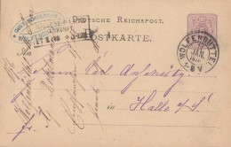 DR Ganzsache K2 Wolfenbüttel 17.1.76 Gel. Nach R3 Halle A./S. Ankunft 17.1.76 - Deutschland