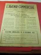 1er Dec 1953 Journal Mens. L'AVENIR COMMERCIAL INFO MARSEILLE PUB FOIRE INTERNATIONALE ELECTIONS COSULAIRES Voir Scanns - Newspapers