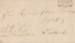 Preussen Brief R2 Vlotho 24.8. Gel. Nach Lübbecke Bpst.blauer Hannover-Berlin - Preussen