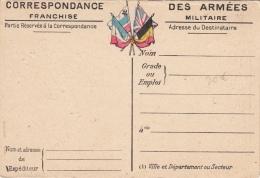 Carte Correspondance Des Armées Carte Du Front N°2 Artois Et Picardie