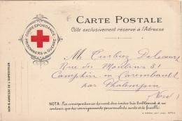 Carte Postale Croix Rouge Prisonniers De Guerre - Marcophilie (Lettres)