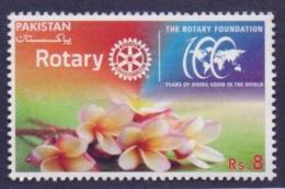 PAKISTAN 2016 - 100 Years Celebration Of The ROTARY Foundation, Flowers, MNH - Rotary, Club Leones