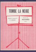 Partition Originale  ADAMO / Tombe La Neige 1963 - Musik & Instrumente