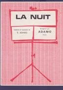 Partition Originale  ADAMO / La Nuit  1964 - Musik & Instrumente