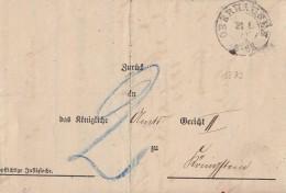 DR Brief K2 Oberhausen 31.1.73 Gel. Nach Königstein Ansehen Mit Inhalt - Deutschland