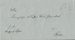 Brief Hechthausen 14.1.1860 Mit Inhalt Gel. Nach Stade - Hannover