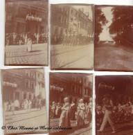 BOULOGNE SUR MER - PROCESSION DE LA VIERGE - MARINS + COLONNE GRANDE ARMEE WIMILLE - PAS DE CALAIS - LOT DE 6 PHOTOS - Lieux