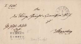 Brief K2 Arnsberg 5.8.48 Gel. Nach Marsberg Mit Beamtenstempel - Deutschland