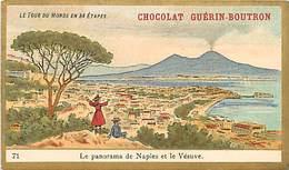 PIE-16-P - 2877 :  CHOCOLAT GUERIN BOUTRON. LE TOUR DU MONDE EN 84 ETAPES.  NAPLES ET LE VESUVE - Guérin-Boutron