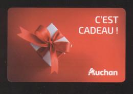 GIFT CARD - Carte Cadeau Auchan ROUGE - 50 € - Cartes Cadeaux