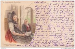 INGWILLER  67 COSTUME ALSACE LORRAINE 1901 CPA BON ÉTAT - France