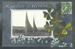 +++ CPA - Suisse - Souvenir De GENEVE - La Rade - Carte Fantaisie  // - GE Genf
