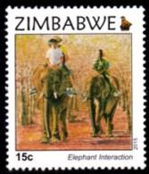 Zimbabwe - 2015 Victoria Falls 15c Elephants (**) - Elephants