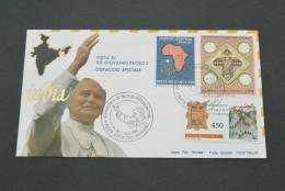 PJ625- FDC Roma- Vatiican City - 1986-visita Di S.S. Giovanni Paolo II - India- Dispaccio Speciale - - Popes