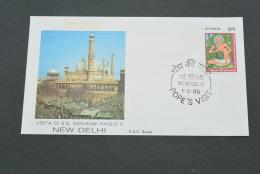 PJ627- FDC Roma- India - 1986-visita Di S.S. Giovanni Paolo II - India- New CDElhi - Popes