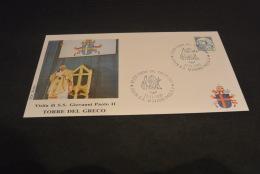 PJ982- FDC  Roma - Italia  1990  -visita Di S.S. Giovanni Paolo II  -  Torre Del Greco - Papes