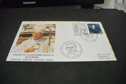 PJ1117- FDC  Roma - Vatiocan City   1993-visita Di S.S. Giovanni Paolo II In Albania Dispaccio Sepciale -Vaticano-Tirano - Papes